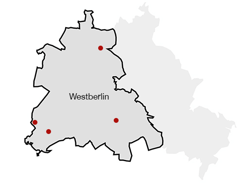 Karte von Westberlin | Map of West Berlin