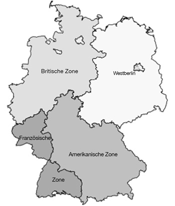 Karte der Besatzungszonen | Map of the occupation zones
