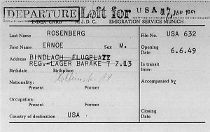 AJDC Karteikarte für die Auswanderung in die USA | AJDC registration card for emigration to the USA