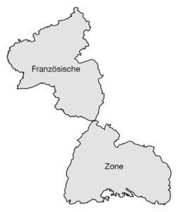 Karte Französische Zone | Map of the French Zone
