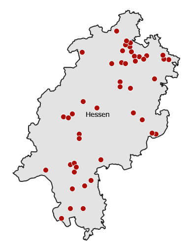 Karte Hessen | Map of Hesse