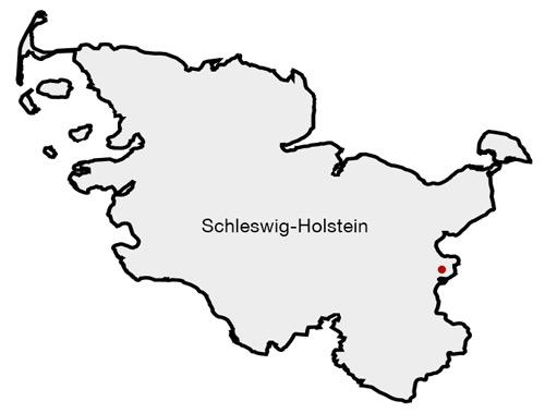 Karte von Schleswig-Holstein   Map of Schleswig-Holstein